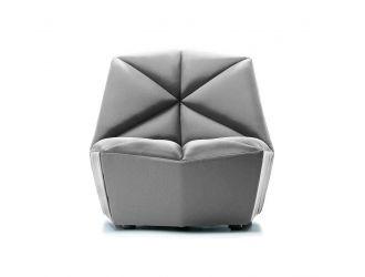 Divani Casa Tomlin - Contemporary Grey Woven Fabric Accent Chair