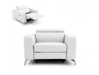 Coronelli Collezioni Turin - Italian White Leather Recliner Chair