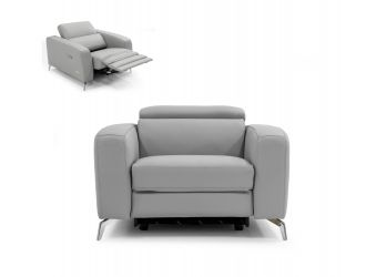 Coronelli Collezioni Turin - Italian Grey Leather Recliner Chair