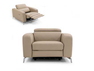 Coronelli Collezioni Turin - Italian Cappuccino Leather Recliner Chair