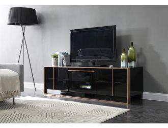 Nova Domus Cartier Modern Black & Rosegold TV Stand