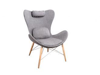 Modrest Britt Modern Grey Fabric Accent Chair