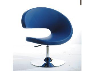 Modrest Adara Modern Blue Leatherette Lounge Chair