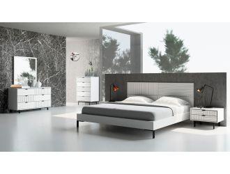 Nova Domus Valencia Contemporary White Bedroom Set