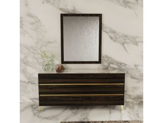 Nova Domus Velondra - Modern Eucalypto + Marble Dresser