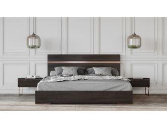 Nova Domus Benzon Italian Modern Dark Rovere Bed