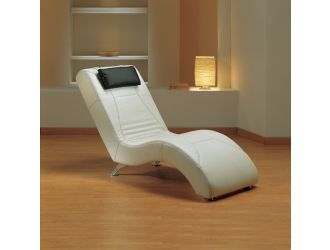 Estro Salotti Viva Modern White Leather Lounge Chaise