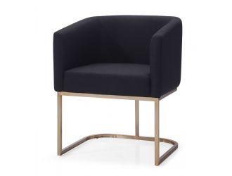 Modrest Yukon - Modern Black & Antique Brass Dining Chair