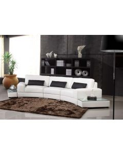525 Modern White Leather Sectional Sofa