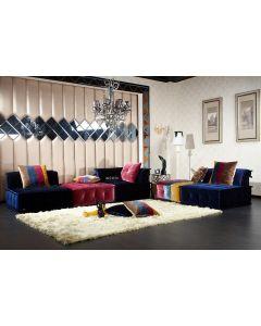 Divani Casa Dubai - Contemporary Multicolored Fabric Modular Sectional Sofa
