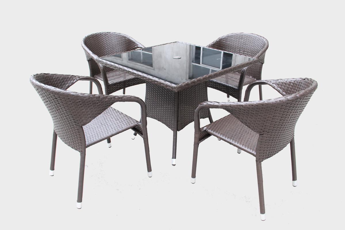 Renava Tobago Outdoor Brown Dining Table Set