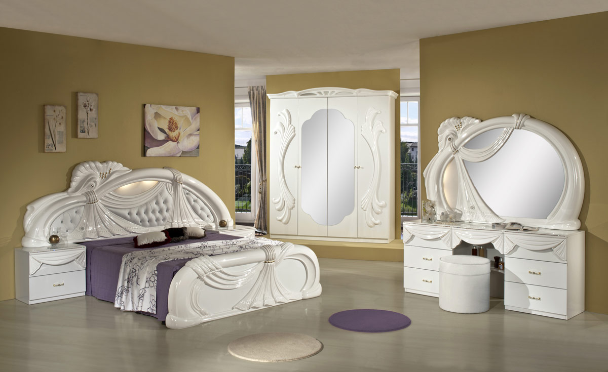 marble bedroom sets gina white italian classic bedroom set made