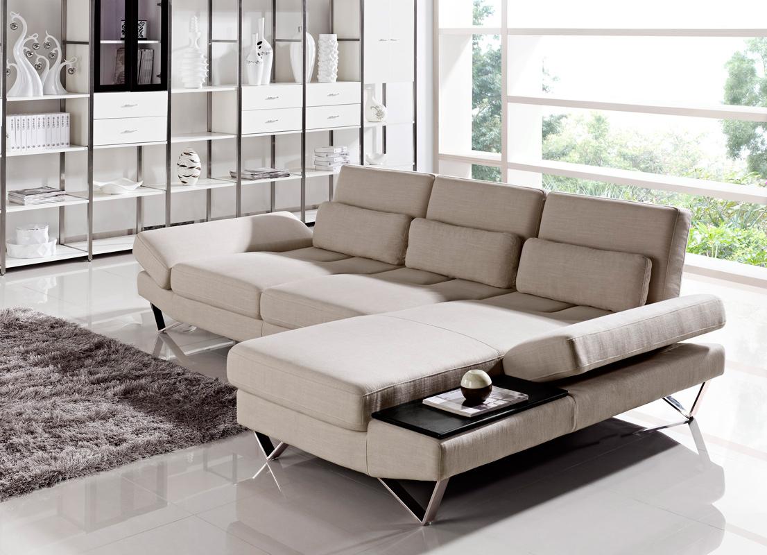 Yorba Modern Fabric Sectional Sofa Set