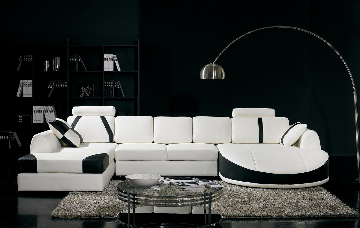 T57B Ultra Modern Leather Sectional Sofa