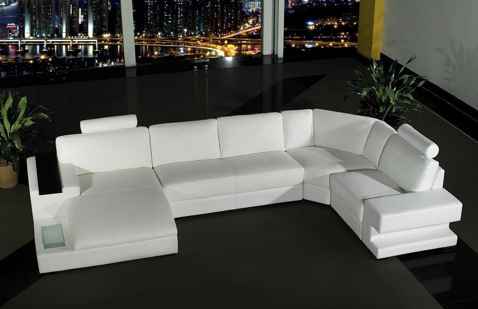 Orion Modern White Leather Sofa Set Easily Molds In With Earth Toned Or  Bright Colored Themes.