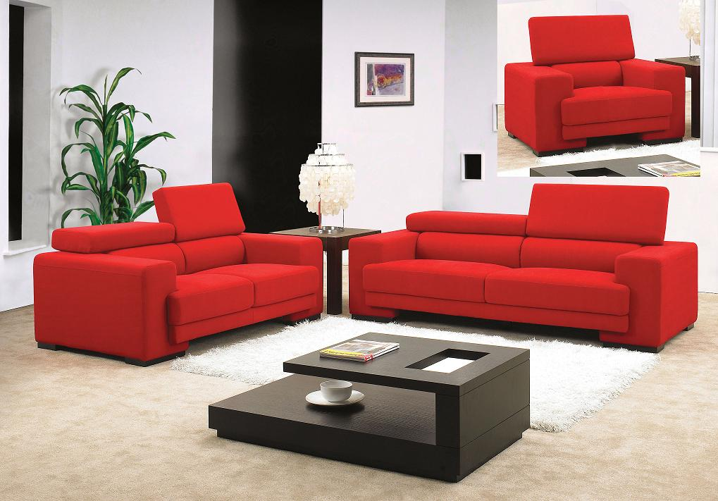 Modern Living Room Ideas with Red Sofa 1019 x 711